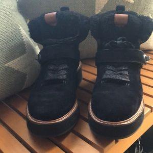 Suede & shearling COACH Urban Hiker boots